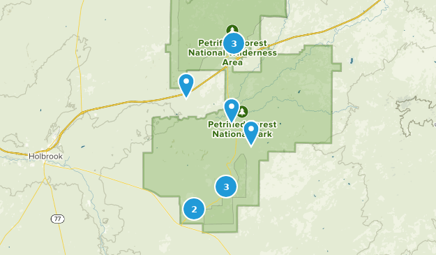 Petrified Forest National Park Walking Map