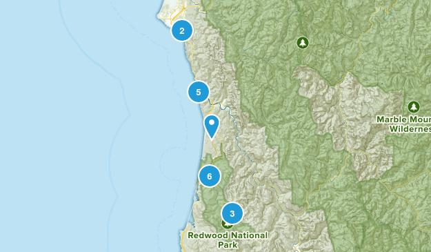 Redwood National and State Parks Birding Map