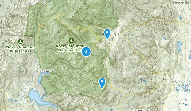 Rocky Mountain National Park Rock Climbing Map