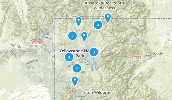 Yellowstone National Park Canoeing Map