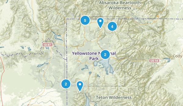 Yellowstone National Park Horseback Riding Map