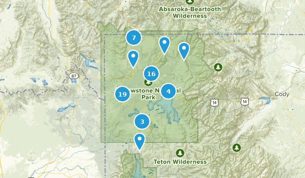 Yellowstone National Park Hot Springs Map