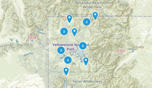 Yellowstone National Park Paddle Sports Map