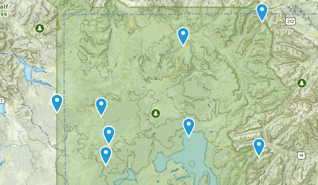 Detailed Yellowstone Map on