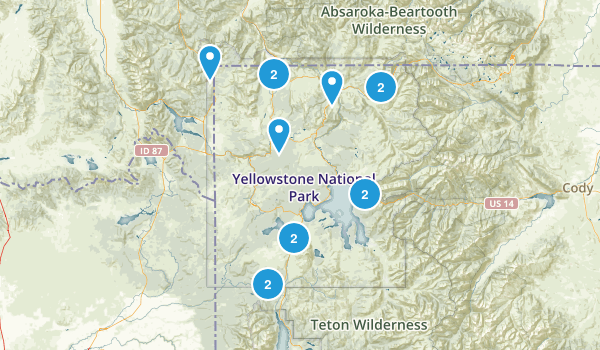 Best Snowshoeing Trails In Yellowstone National Park Photos - Yellowstone national park on map of us