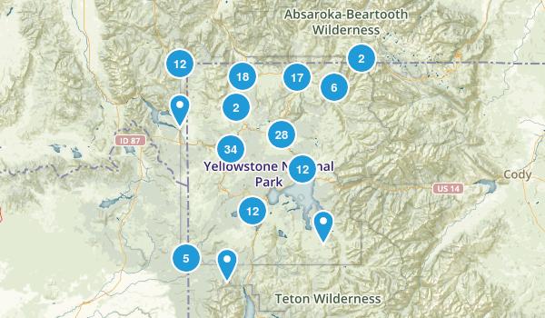 Yellowstone National Park Walking Map