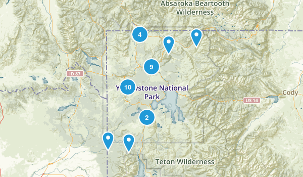 Best Waterfall Trails In Yellowstone National Park Photos - Us map yellowstone national park