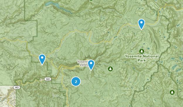 Yosemite National Park Cross Country Skiing Map