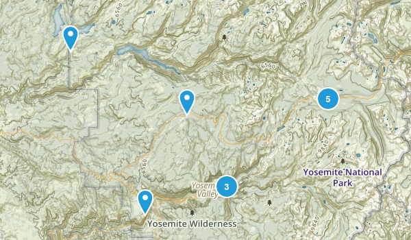 Yosemite National Park Fishing Map