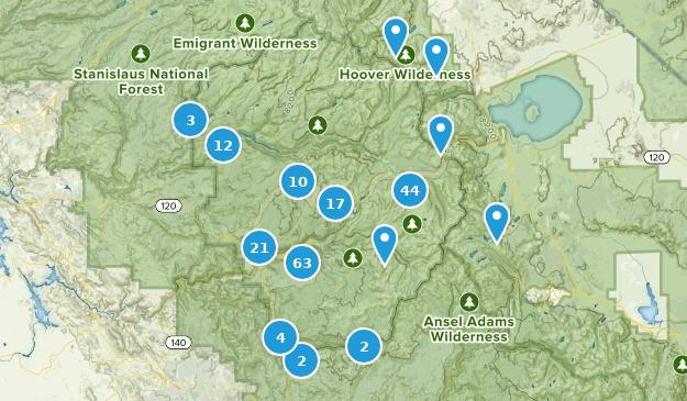 Yosemite National Park Nature Trips Map
