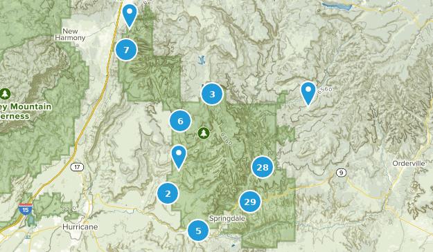 Parc national de Zion Hiking Map
