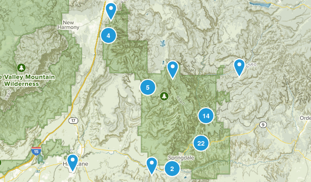 Zion National Park Wildlife Map