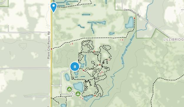 Alafia River State Park Hiking Map