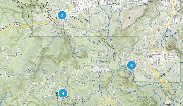 Parc d'état de Red Rock Hiking Map