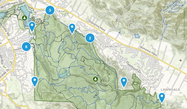 Annadel State Park Bird Watching Map
