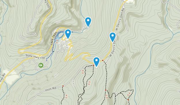 Devil\\\'s Den Map Best Waterfall Trails in Devil's Den State Park   AllTrails