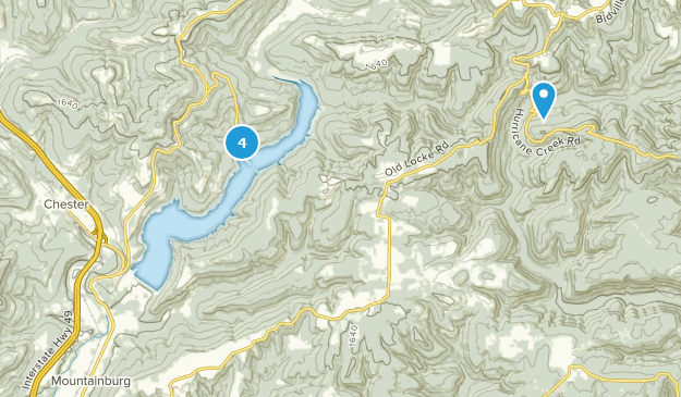 Lake Fort Smith State Park Hiking Map