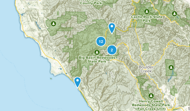 Big Basin Redwoods State Park Nature Trips Map