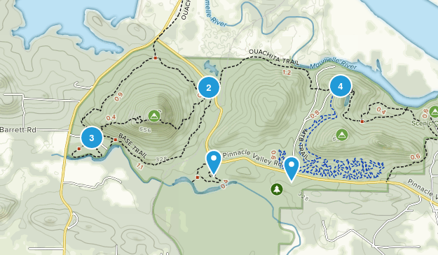 Parc d'État de Pinnacle Mountain Hiking Map