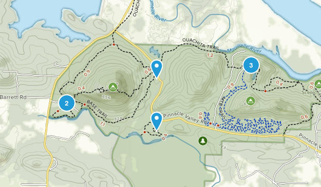 Pinnacle Mountain State Park Nature Trips Map