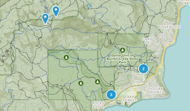 Burton Creek State Park Hiking Map