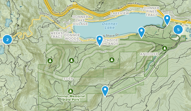 Donner Memorial State Park Nature Trips Map