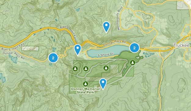 Donner Memorial State Park Trail Running Map
