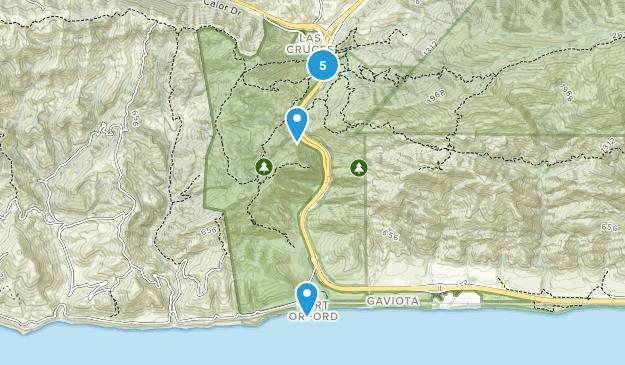 Gaviota State Park Nature Trips Map