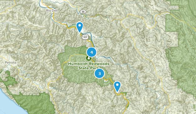 Humboldt Redwoods State Park Wild Flowers Map