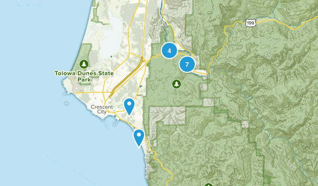 Jedediah Smith Redwood State Park Nature Trips Map