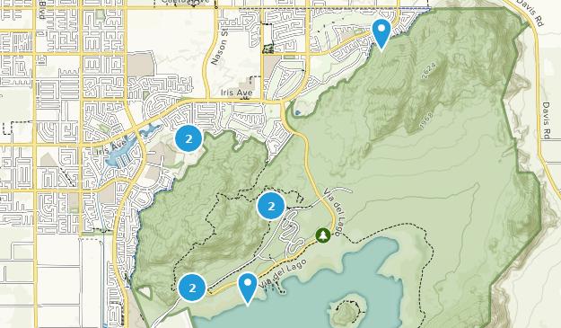 Lake Perris State Recreation Area Nature Trips Map