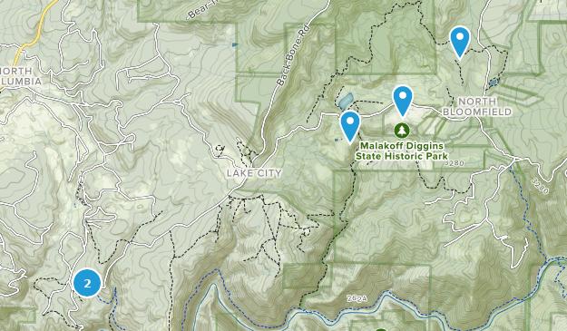 Malakoff Diggins State Historic Park Hiking Map
