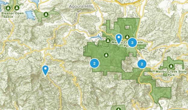 Malibu Creek State Park Mountain Biking Map