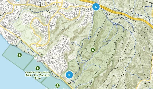 Crystal Cove State Park Mountain Biking Map
