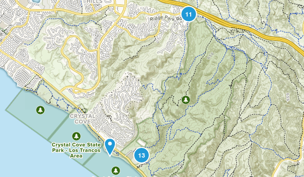 Crystal Cove State Park Nature Trips Map