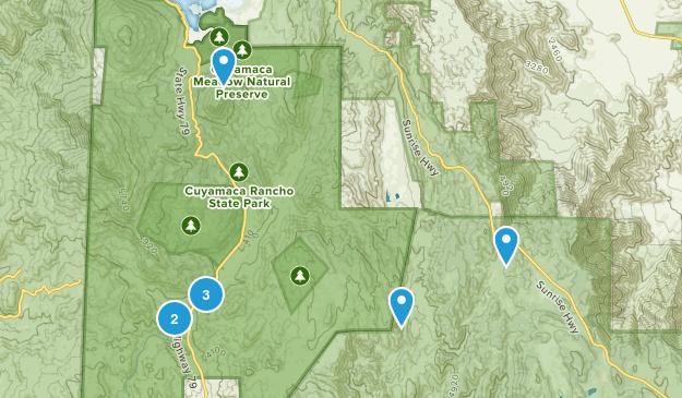 Cuyamaca Rancho State Park Camping Map