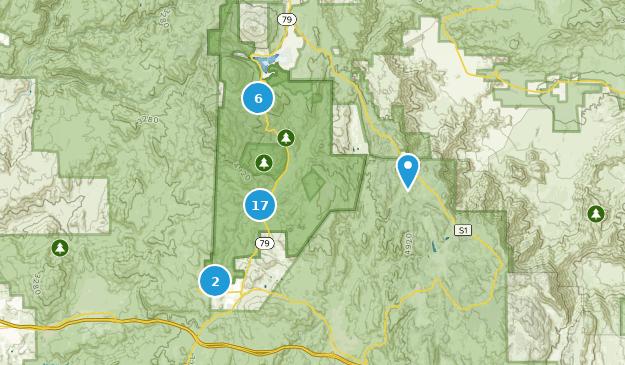 Parc d'État Cuyamaca Rancho Nature Trips Map