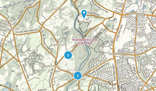 Brandywine Creek State Park Hiking Map