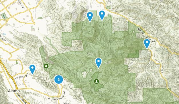 Mount Diablo State Park Horseback Riding Map