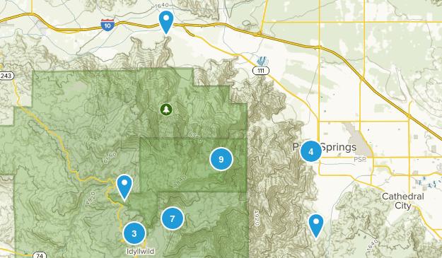 Mount San Jacinto State Park Nature Trips Map