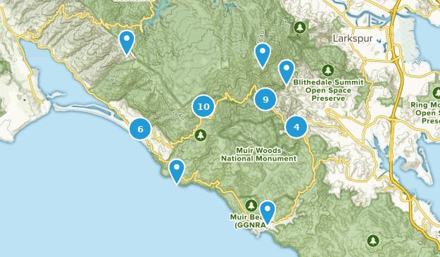 Mount Tamalpais State Park Walking Map