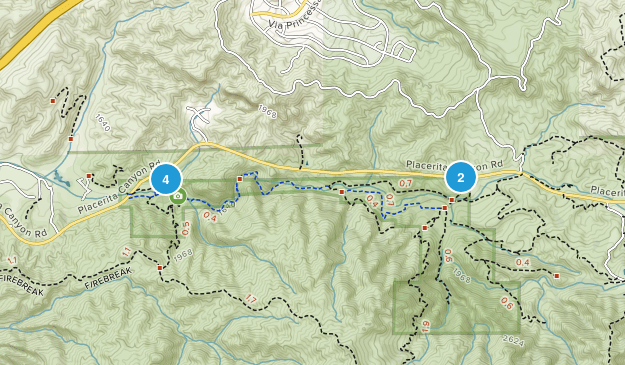 Placerita Canyon State Park Nature Trips Map