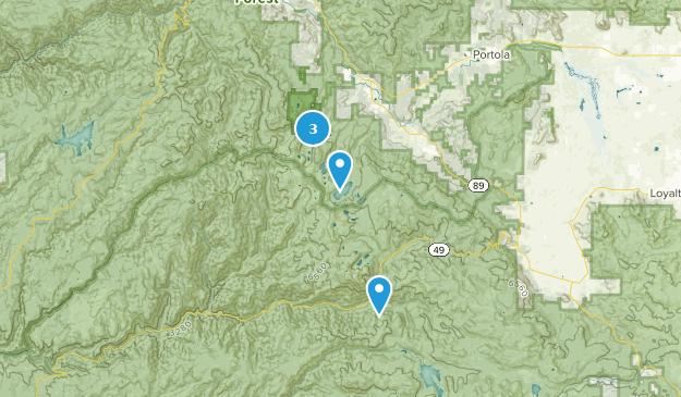 Plumas-Eureka State Park Camping Map