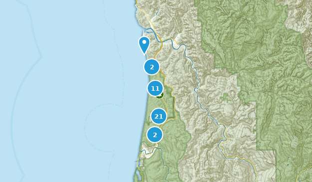 Prairie Creek Redwoods State Park Hiking Map