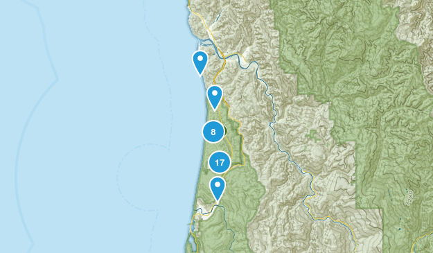 Prairie Creek Redwoods State Park Nature Trips Map