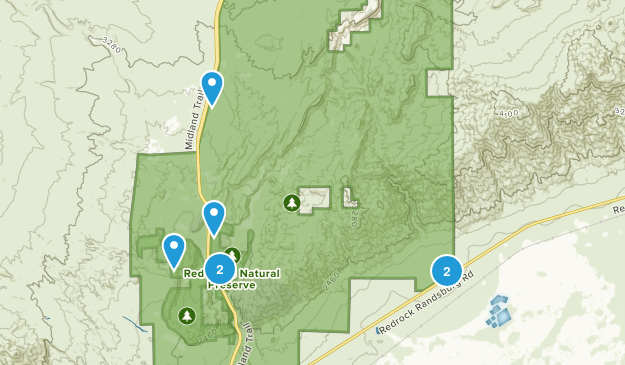 Red Rock Canyon State Park Nature Trips Map