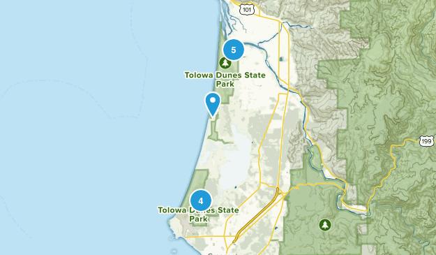 Tolowa Dunes State Park Trail Running Map