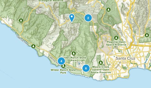 Wilder Ranch State Park Mountain Biking Map