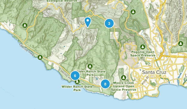 Wilder Ranch State Park Nature Trips Map