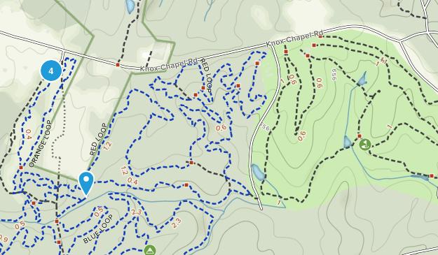 Hard Labor Creek State Park Mountain Biking Map